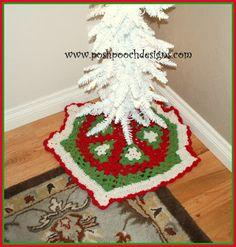 Posh Pooch Designs Dog Clothes: Shimmer Christmas Tree Skirt Crochet Pattern   Posh Pooch Designs
