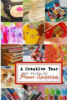A Creative Year with iHanna, by Hanna Andersson, a book printed through lulu Make Paper Beads, How To Make Paper, Make Your Own, Make It Yourself, Diary Book, Fabric Postcards, Fabric Beads, Fabric Art, Paper Decorations