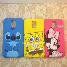 Cute Minnie StitchSpongeBob Cartoon Hard cover case skin for Samsung Galaxy S5 V