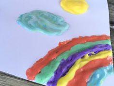 Haz tu propia pintura casera con dos simples ingredientes: crema de afeitar y pegamento. Crear