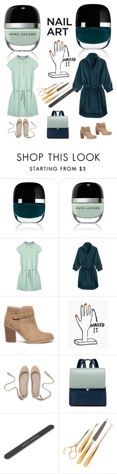 """Untitled #311"" by ellenfischerbeauty ❤ liked on Polyvore featuring Marc Jacobs, Sole Society, Gorham, nailedit and greeneny"