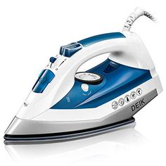 Deik Steam Iron, Iron with Nanoceramic Soleplate, Variable Temperature and Steam