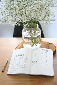 Minimalist Bullet Journal Monthly Layout | by Olga from The Minimalist Mind