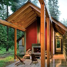 Cabin outdoor living room (I didn't take this pic but wow, awesome)