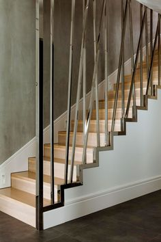Warsaw Apartment Modern Staircase Black Tile Floors Wood Stairs Warsaw Staircase Design Ideas Modern Stairs Ideas: Minimalist Warsaw Duplex Exhibiting a Powerful Character