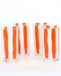 orange and white glasses