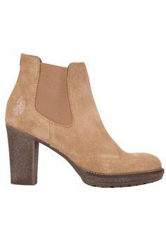 Boots en suède beige à talon US polo Assn 129.00€