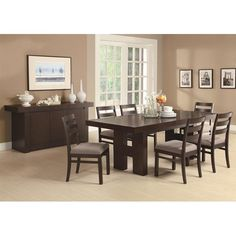 Dabny Dining Table with Pull Out Extension by Coaster - Coaster Dealer Locator - Dining Room Table