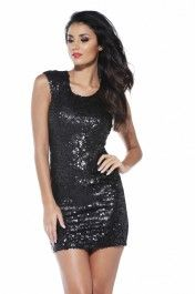 Sequin   Covered Fitted Dress