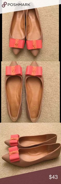 J Crew Bow Flats Great condition! j crew Shoes Flats & Loafers