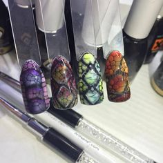 Graffiti, Nail Art, Gelpolish, Maga Nails, Albina Maria, Magnetic Nails