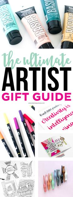 Check those items off your Christmas list using this Ultimate Artist Gift Guide! Find ideas for painting, hand lettering, graphic design and more!