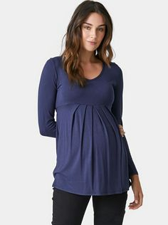 Isabelle Tuck Top with Tie Back in Royal Navy.