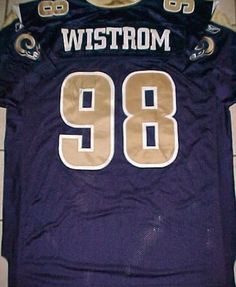 Grant Wistrom  98 St. Louis Rams NFL NFC West Blue Gold White Jersey 54  SIGNED  Reebok  StLouisRams 39c0aef64