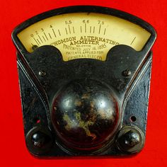 Thomson Alternating Ammeter Pat. 1895 General Electric N.P. 643 - #Industrial #Steampunk  RD10381  Go back to Tin Can Alley - FOR SALE: http://www.bagtheweb.com/b/PBdAfQ