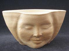Face Planter Flower Pot Sculpture Head Indoor Outdoor by AdrienArt, $80.00