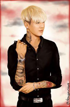 tattooed got7 part 4/7 - kim yugyeom (cr. http://drawyourmark.tumblr.com/)