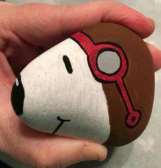 Peinture sur galet de Snoopy