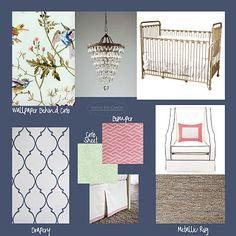 Modern glam style nursery by Visual Eye Candy