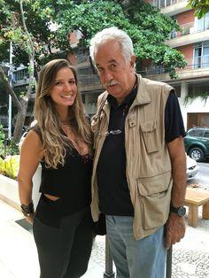 Aline Araujo e o mestre Carlos Vergara, grande amigo de Zanine Caldas