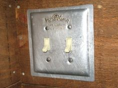 Double Switch Plate Made From A Vintage Bake King Cookie Sheet | tincansally - Earth Friendly on ArtFire