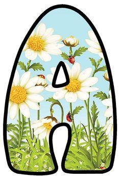 Bullet Journal Font, Journal Fonts, Flower Letters, Monogram Letters, Mom Dad Tattoos, Welcome Flowers, Ladybug Picnic, Alphabet Style, Letter Symbols
