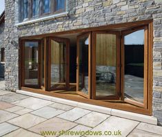 wood bifold - between future patio and kitchen