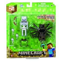Minecraft Spider and Jockey Action Figure Set Video Minecraft, Minecraft Toys, Minecraft Party, Mojang Minecraft, Minecraft Stuff, Legos, Minecraft Action Figures, Mega Pokemon, Early Education