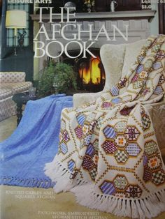 The Afghan Book Knit and Crochet 1975 Vintage   Price: $4.00