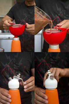 cómo usar un sifón de cocina