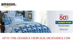 Bombay Dyeing bedsheets flat 50% off at amazon india plus get upto 14% cashback from dealsncashback.com  www.dealsncashback.com/merchants/amazon