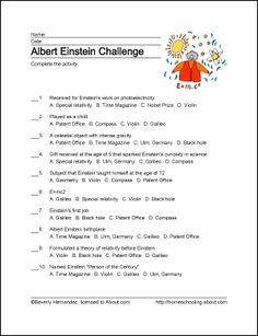 Albert Einstein Wordsearch, Crossword Puzzles, and More: Albert Einstein Challenge
