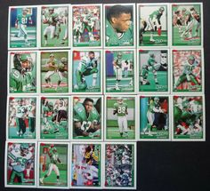1991 Topps New York Jets Team Set of 22 Football Cards #NewYorkJets New York Jets, Football Cards, Ebay, Soccer Cards