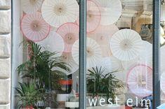 West Elm: Inspired by Clinton Friedman: Parasol Window Displays