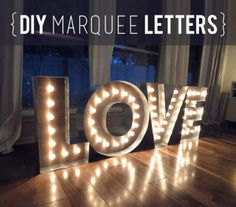 Makin' Loooooove… COMPLETE! {DIY Marquee Letters} - Evan & Katelyn...all around great blog...check it out!!