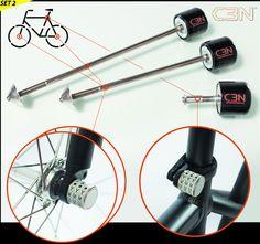 Security skewers | Security nuts | Sphyke C3N | Bike security | Bike Locks | Bike Anti-theft