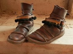 steampunk pirate leather boot straps