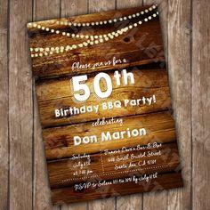 50th Birthday Invite - CUSTOMIZABLE