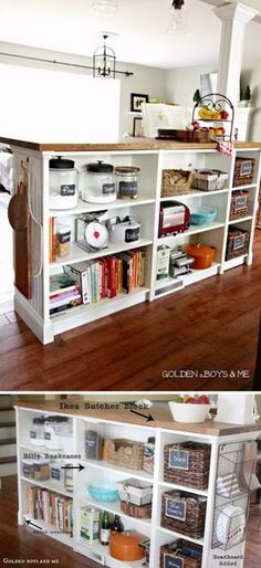 20 Creative Ways to Store Books in Your Kitchen | Kitchens, Store and  Creative