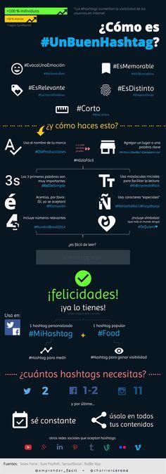 Cómo es un buen Hashtag #infografía