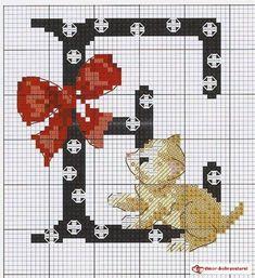 monograma de gatos e