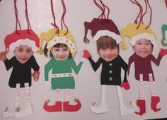 Christmas Crafts : Holly-Day Tip Elf yourself! FREE Elf Yourself template to create your own festive bunch. Preschool Christmas, Christmas Crafts For Kids, Christmas Projects, Holiday Crafts, Christmas Holidays, Christmas Ornaments, Photo Ornaments, Grinch Christmas, Summer Crafts