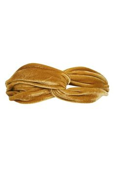 Bring back the headband with this cool style in a trending ochre-velvet. A unique accessory to add character to any outfit. #Topshop