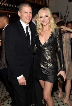 Candice Accola and Wentworth Miller at 2015 CW Upfront Party in New York...