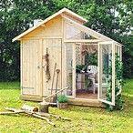 Résultat d'images pour Garden Shed Greenhouse Combo