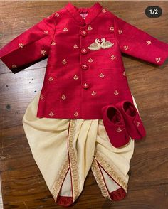 Boys Dress Clothes, Kids Dress Wear, Boys Clothes Style, Kid Dresses, Kid Clothing, Kids Gown, Boys Style, Ethnic Wear For Boys, Kids Indian Wear