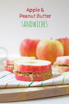 Apple Peanut Butter Sandwiches are a perfect after school snack for kids. They are fun and nutritious and your kids will love them. Easily adapted to taste.