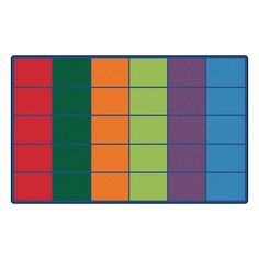 Colorful Seating Rows Kids Rug Rug Size 84 x 134 -- Click image to review more details.Note:It is affiliate link to Amazon.