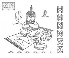 7 Little Indians DOW Embroidery Transfer Patterns