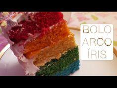 Bolo Arco Íris (Rainbow Cake) - Confissões de uma Doceira Amadora - YouTube